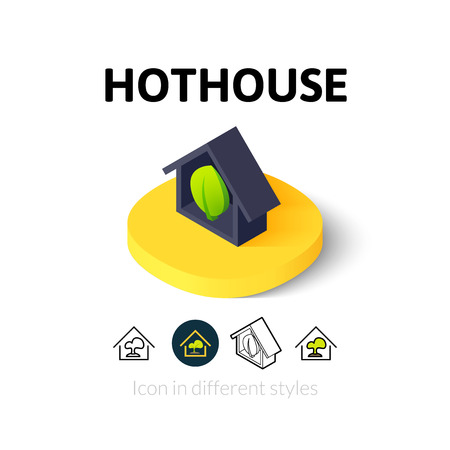 hothouse: Hothouse icon, vector symbol in flat, outline and isometric style