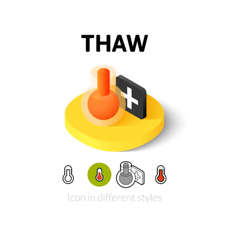 thaw: Thaw icon, vector symbol in flat, outline and isometric style Illustration