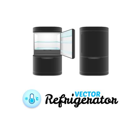 refrigerate: Refrigerador moderno aislados en fondo blanco, ilustraci�n vectorial