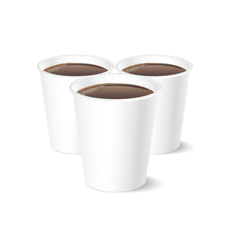coffee cup isolated: Disposable coffee cup isolated on white background, vector illustration