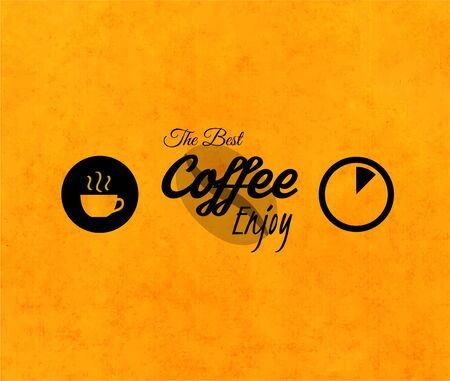 best coffee: Menu for restaurant, the best coffee enjoy, use for cafe, bar of coffeehouse, vector illustration Vectores