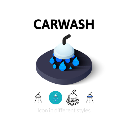 carwash: Carwash icon, vector symbol in flat, outline and isometric style Illustration