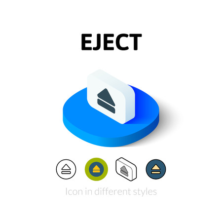 eject: Eject icon, vector symbol in flat, outline and isometric style
