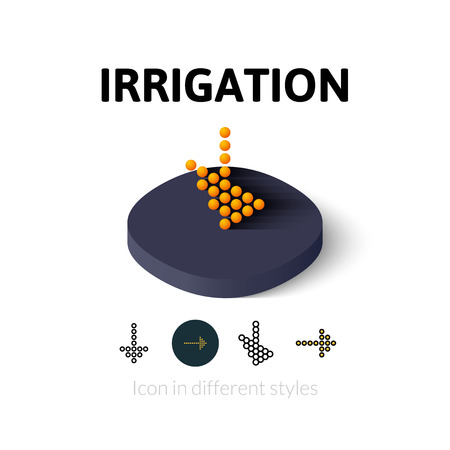 irrigation: Irrigation icon, vector symbol in flat, outline and isometric style Illustration