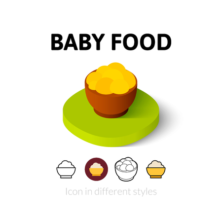 puree: Baby food icon, vector symbol in flat, outline and isometric style