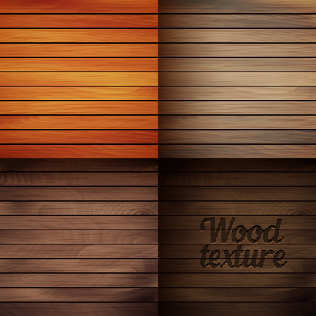 wood backgrounds: Set of vector wood texture backgrounds, four colors included