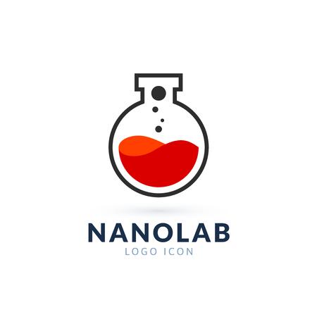 nano: Nano lab logo template, vector science icon Illustration