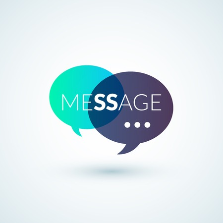 Text message logo, sms or mail vector icon