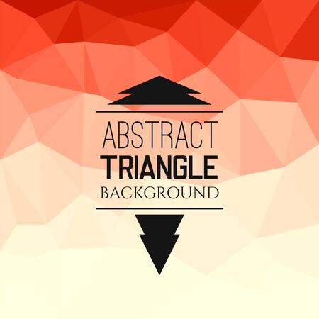 vermilion: Abstract red triangle pattern, geometrical vibrant multicolored vector background illustration