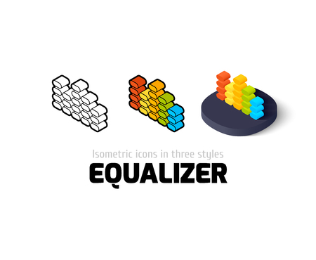 Equalizer icon, vector symbol in flat, outline and isometric style