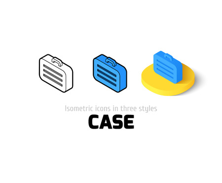 Case icon, vector symbol in flat, outline and isometric style