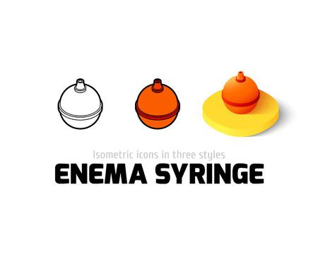 enema: Enema syringe icon, vector symbol in flat, outline and isometric style