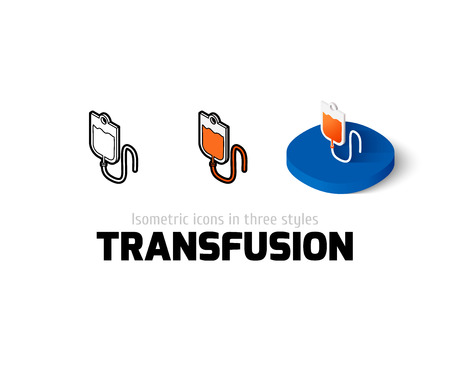 transfusion: Transfusion icon, vector symbol in flat, outline and isometric style Illustration