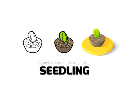 seedling: Seedling icon, vector symbol in flat, outline and isometric style