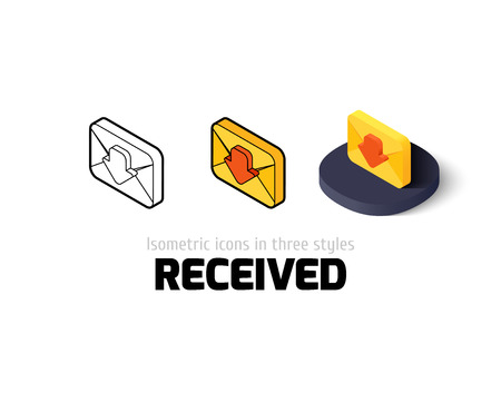 sent: Sent icon, vector symbol in flat, outline and isometric style