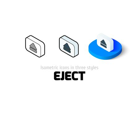 eject icon: Eject icon, vector symbol in flat, outline and isometric style
