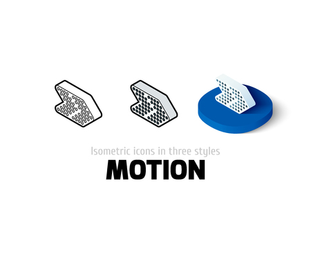 arrowhead: Motion icon, vector symbol in flat, outline and isometric style Illustration