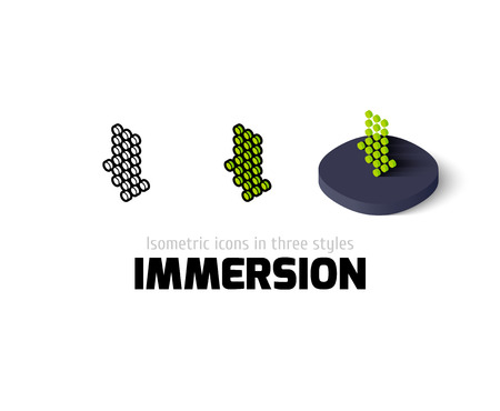 immersion: Immersion icon, vector symbol in flat, outline and isometric style