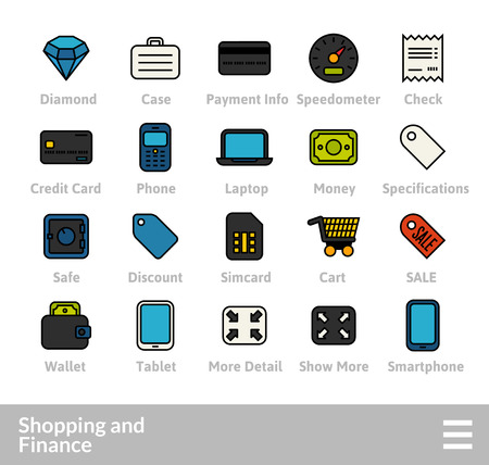 Outline icons thin flat design, modern line stroke style, web and mobile design element, objects and vector illustration icons set 9.