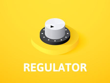 Regulator isometrische Symbol, isoliert auf farbigem Hintergrund Vektorgrafik