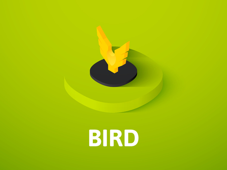 Bird isometric icon, isolated on colored background Illustration
