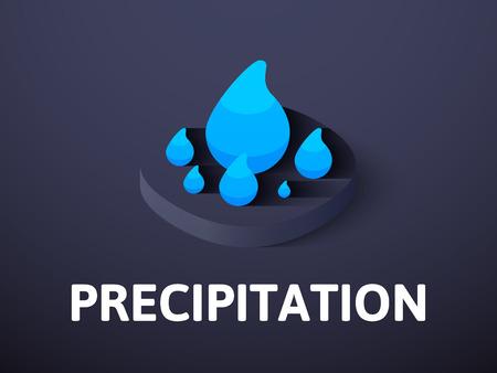 Precipitation isometric icon, isolated on colored background Illustration