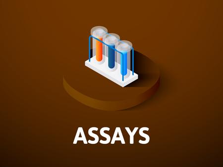 Analizza icona isometrica isolato su sfondo di colore Archivio Fotografico - 96274555