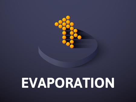 Evaporation isometric icon, isolated on color background Illustration