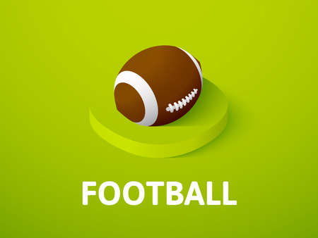 Football isometric icon, isolated on color background Stock Photo