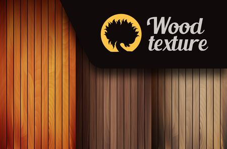 Set of three wood textures in three shades of brown