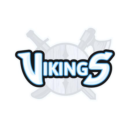 Vikings sport logo, vector emblem Illustration