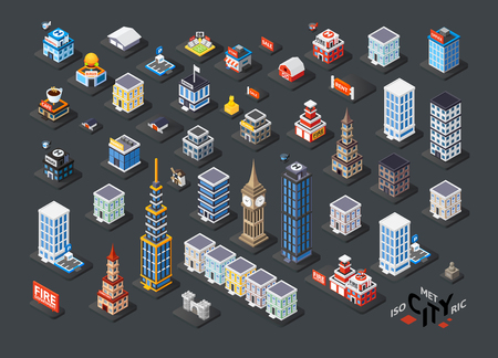Isometric projection of 3D buildings