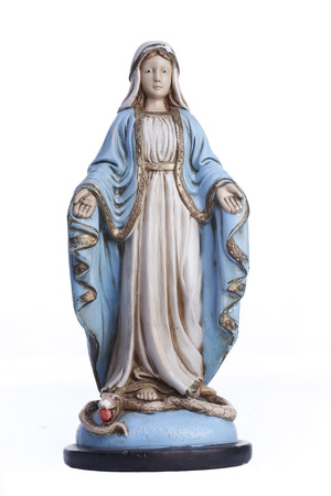 Statue of the image of Our Lady of Grace, mother of God in the Catholic religion Archivio Fotografico - 104627113
