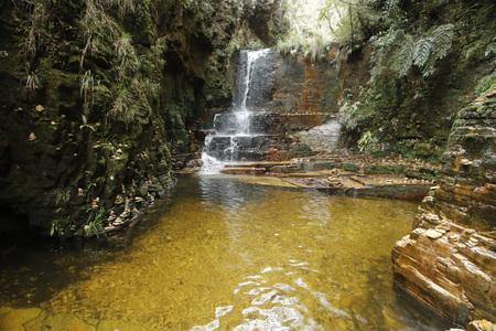 Capitolio Minas Gerais - Trilha do Sol, Poco Dourado - View of Furnas Canyon in Brazil - Trail of the Sun, Golden Well