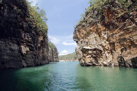 Capitolio Minas Gerais - View of Furnas Canyon in Brazil Reklamní fotografie