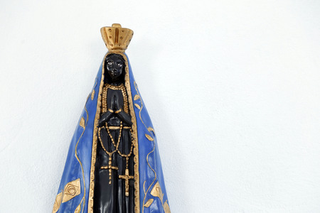 Statue of the image of Our Lady of Aparecida, mother of God in the Catholic religion, patroness of Brazil