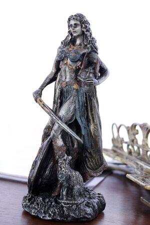 Freya norse Goddess of love, beauty and fertility statue 写真素材 - 129720379