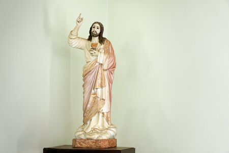 Statue representing the Sacred Heart of Jesus Christ - Catholic symbol
