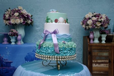 delicious candy party, old birthday cake, candy celebration, reception, food