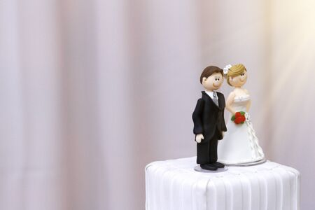 beautiful statues of bride and groom decorative wedding cake - wedding bride and groom couple doll in wedding cake Imagens