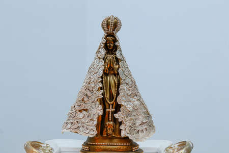 Statue of the image of Our Lady of Aparecida, mother of God in the Catholic religion Banco de Imagens