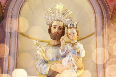 Saint Joseph and baby Jesus of the Catholic Church - Sao Jose - Menino Jesus - St Joseph