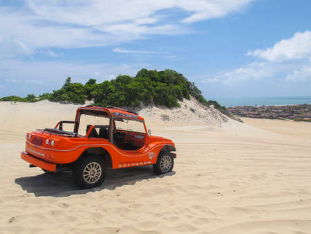 Extremoz, RN / Brazil - 2019-01-09: Genipabu Dunes, tourist destination in Natal, northeastern Brazil. Editorial