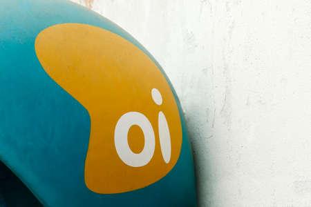 Minas Gerais, MG / Brazil - October 09, 2020: old public telephone equipment Brazilian operator Oi
