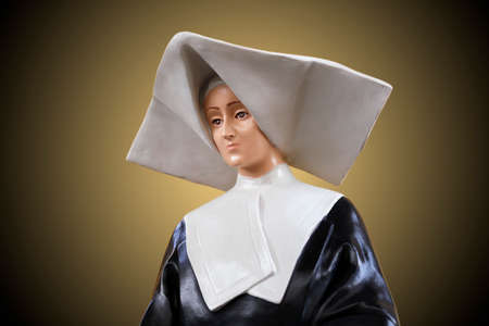 Statue of Santa Catarina Laboure in church, saint of catholic religion