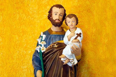 Saint Joseph and baby Jesus of the Catholic Church - Sao Jose - Baby Jesus - St Joseph