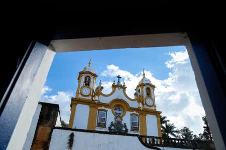 View of Tiradentes from the Santo Antonio Mother Church in the tourist town of Tiradentes in Minas Gerais
