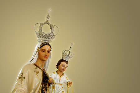 Statue of the image of Our Lady of Carmel, Nossa Senhora do Carmo, mother of God in the Catholic religion