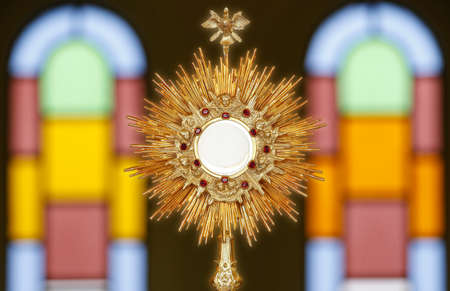 Ostensory for worship at a Catholic church ceremony