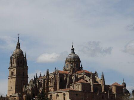 cathedral in salamanca city of spain Banco de Imagens